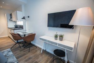Eines der Serviced Apartments Bremen, ausgestattet mit Designermöbel und neuester Technik.
