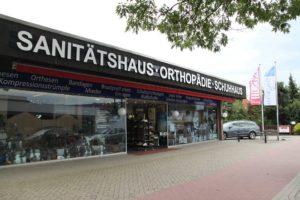 Das Sanitätshaus Hüsing bei Bremen in der Frontansicht