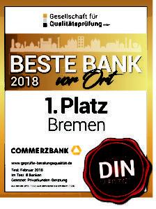 Die Beratung der Commerzbank Bremen wurd mit Bestnoten bewertet – auch in Sachen Gewerbekunden und Geschäftskonto.