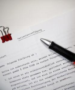 Dokument Patientenverfügung