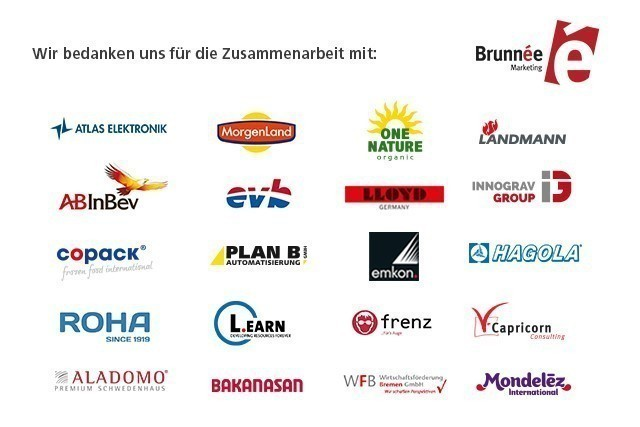 Brunnée Marketing kümmert sich um die Corporate Identity der Kunden aus Bremen und der Welt.