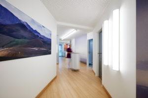 Praxisräume von Prof. Dr. Kohorst, dort wird die professionelle Zahnreinigung durchgeführt