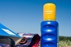 Sonnenschutz Bremen Flasche Sonnencreme