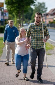 Spaziergang Gruppe